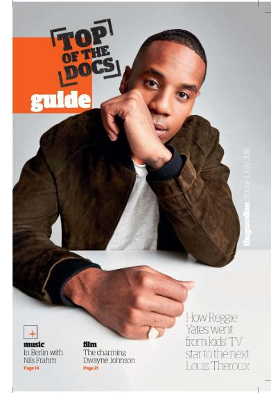 Reggie Yates cover feature, The Guardian Guide